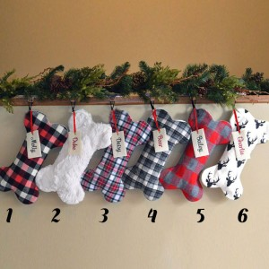 New Design! Personalized Bone Christmas Stockings