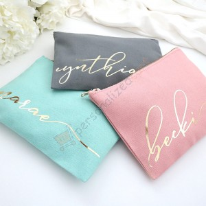 Personalized Makeup Bag/Bridesmaid Makeup Bag