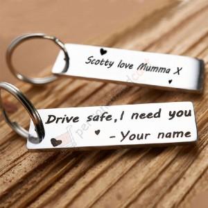 Personalized Aluminum Gift Keychain