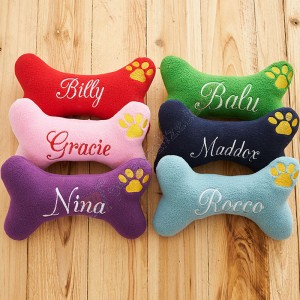 Personalized Dog Bone Toy with Squeaker