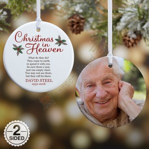 Christmas In Heaven Personalized Memorial Ornament