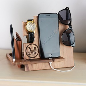 Personalized Wood Docking Station