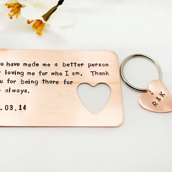 Personalized Copper Wallet Insert Card