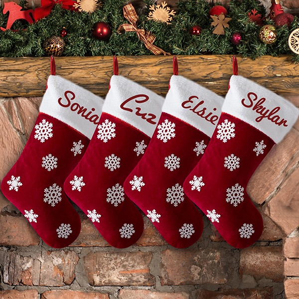 Personalized Snowflake Stockings