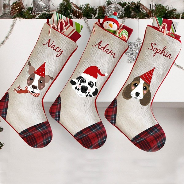 New Design! My Dog Embroidered Christmas Stocking