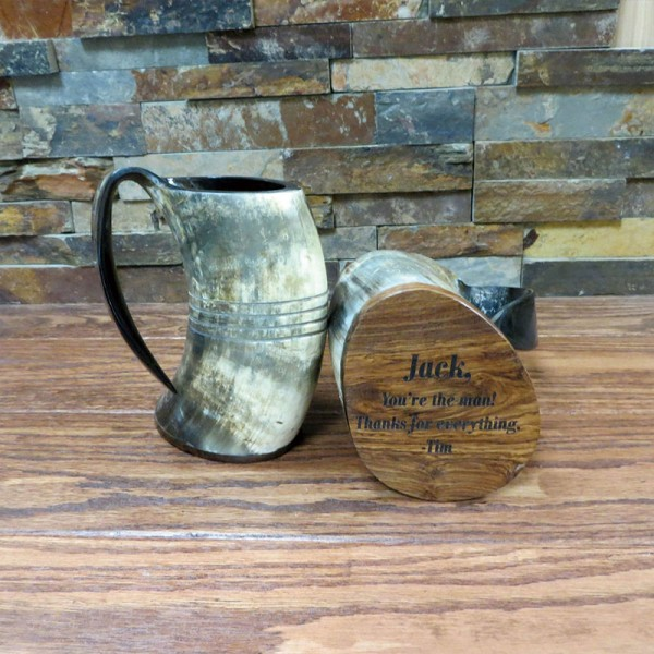 Personalized Beer Mug Horn Mug