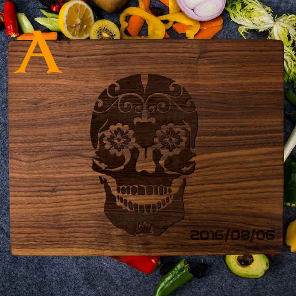 Sugar Skull Cutting Board