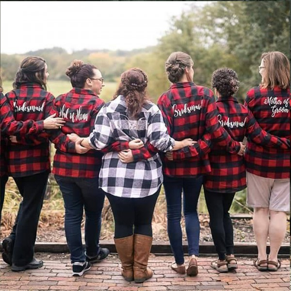 Bridal Party Flannel Shirts
