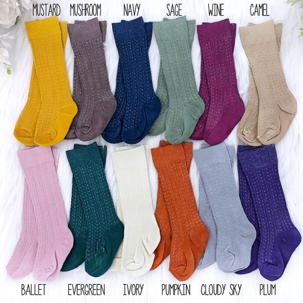 Hand Dyed Cable Knit Socks