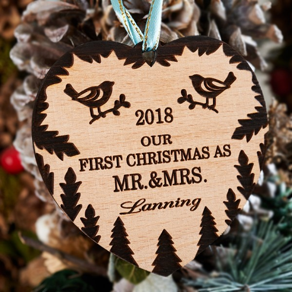 Our First Christmas Ornaments Personalized