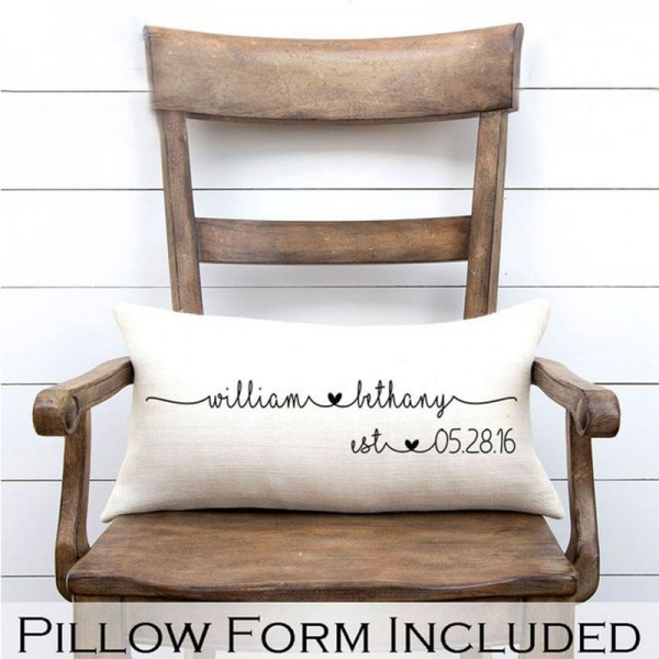 Personalized Pillow For Mr & Mrs