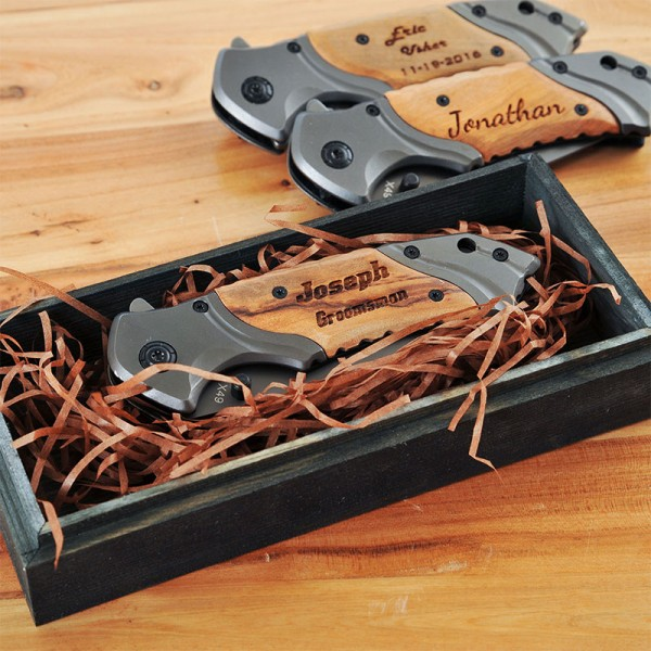 Personalized Wooden PocketKnife
