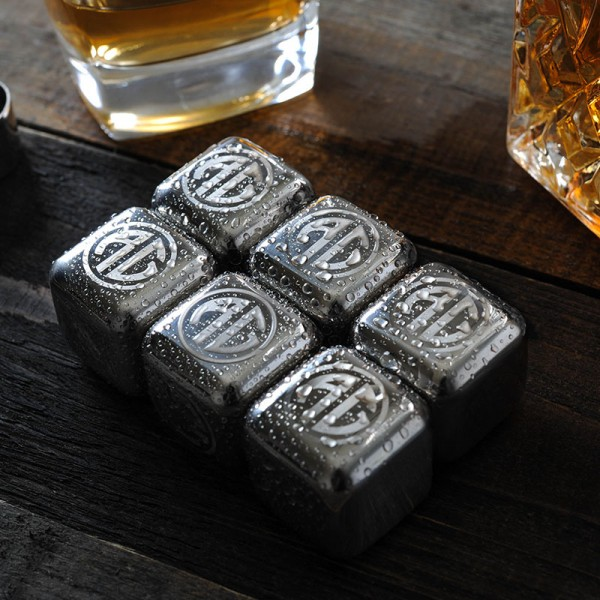Personalized Set of 6 Whiskey Stones