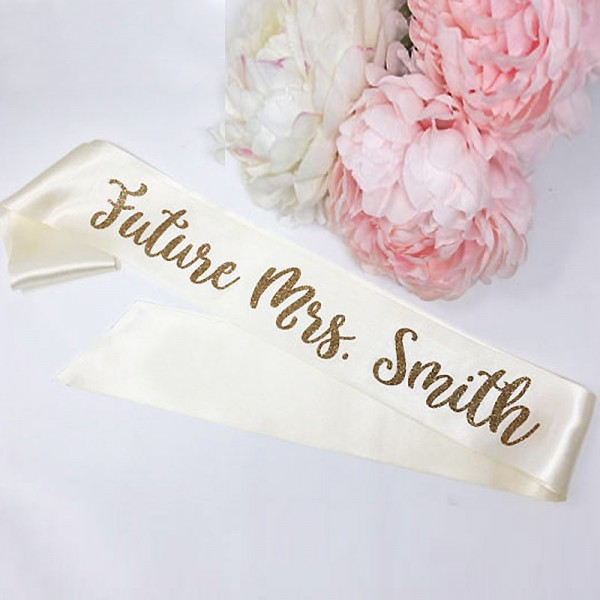 Personalized Bride To Be Sash