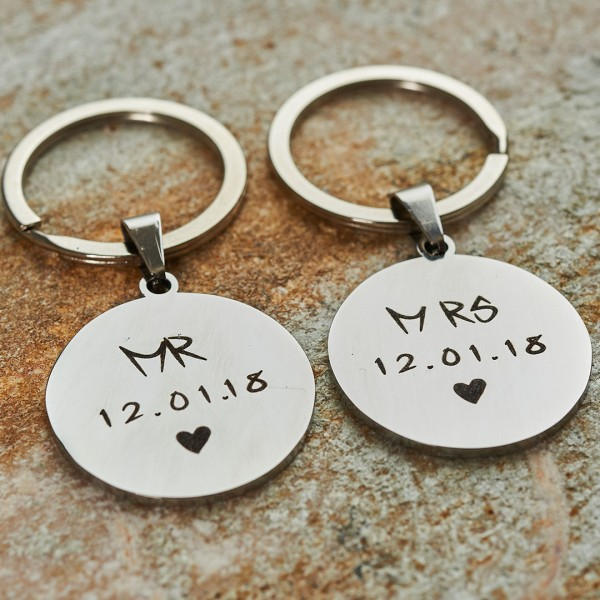 Personalized Mr. & Mrs. Keychains