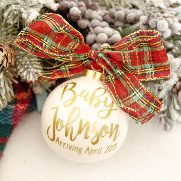 Christmas Baby Pregnancy Ornament