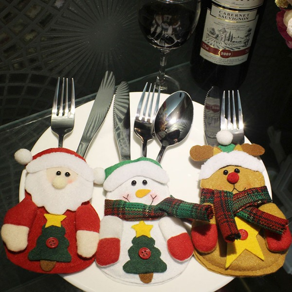 Christmas Cutlery Tableware Cover
