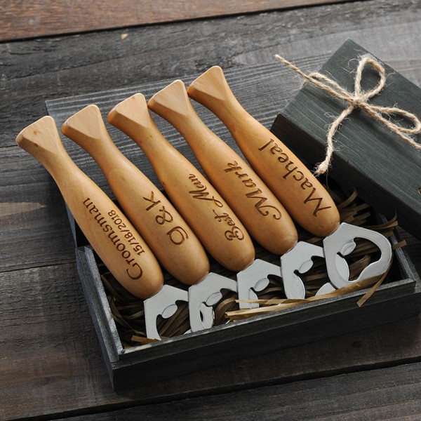 Wooden Personalized Fish Bottle Opener