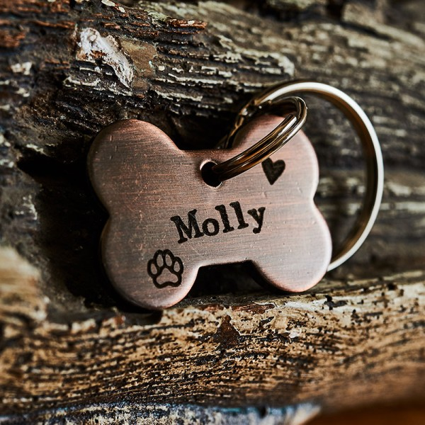 Puppy Bone Dog Tag Identification Tag