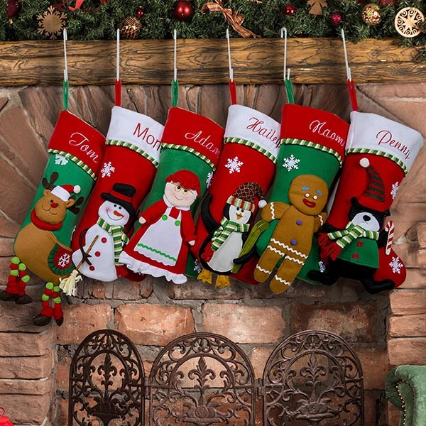 Holiday Decor Family Stocking