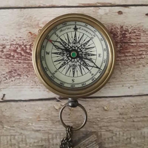 Working Compass Necklace