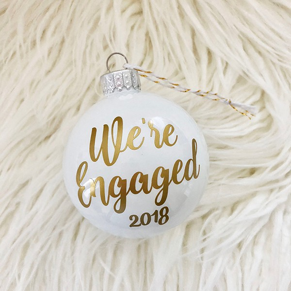 2018 Personalized Engagement Christmas Ornament