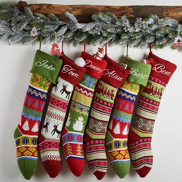 Personalized Embroidery Knit Stocking