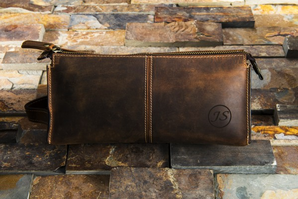 Mens Toiletry Bag Leather