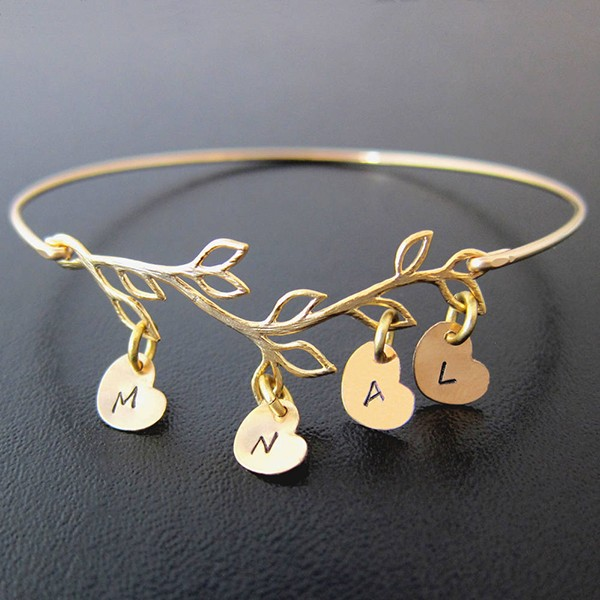 Personalized Family Tree Bracelet