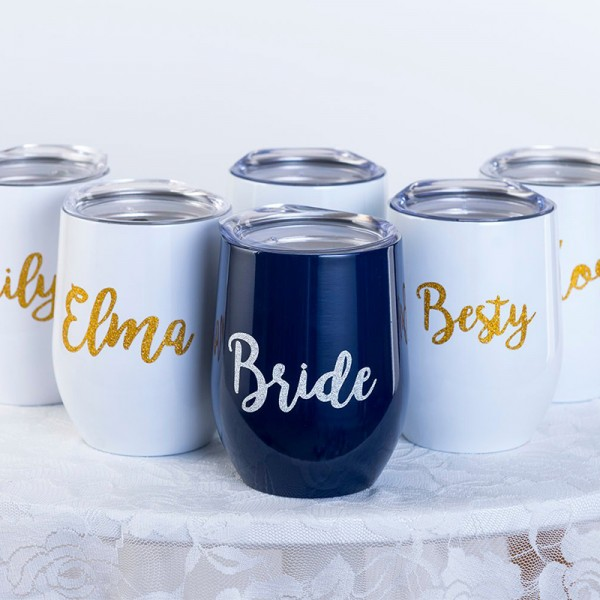 Personalized Wine Tumbler.