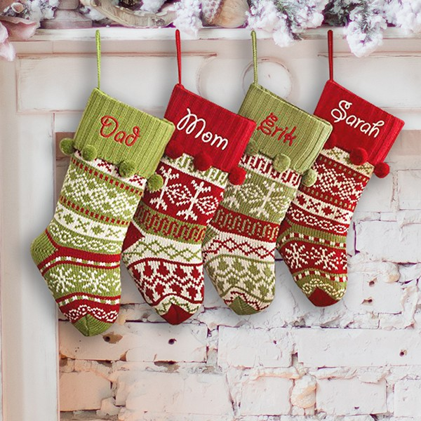 Christmas snowflake stockings