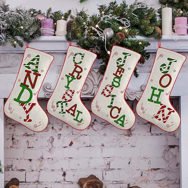 Monogram Family Christmas Stockings