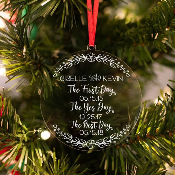 Personalized Newlywed Ornament