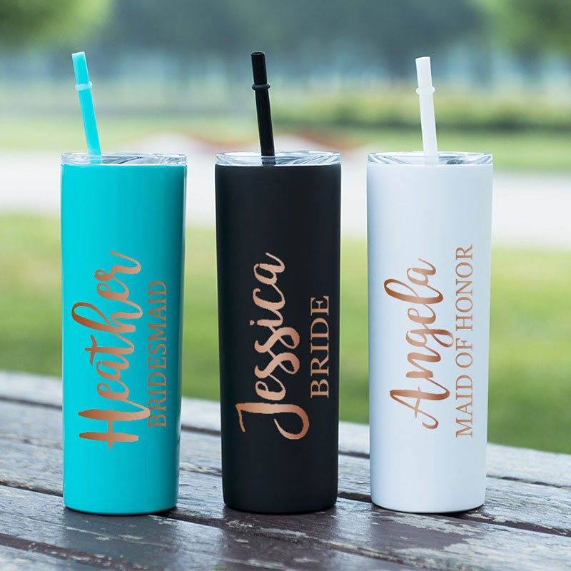 personalized Stainless Steel Tumbler Bridesmaid Gift
