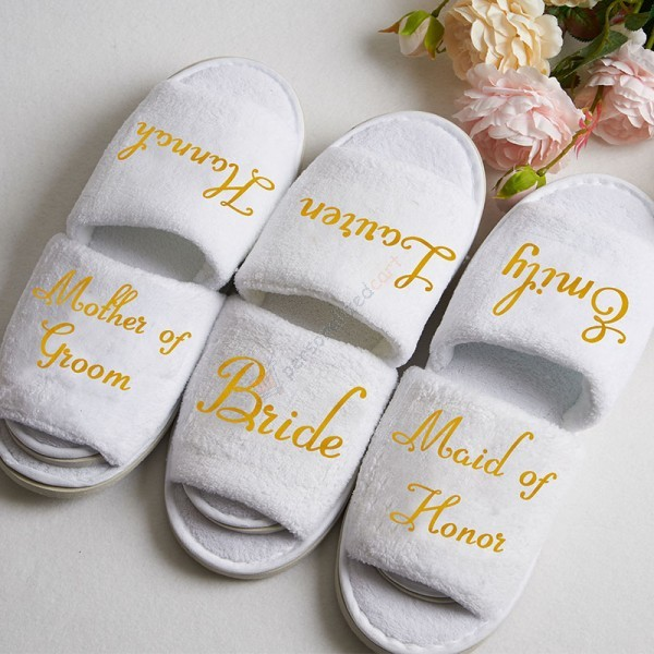 Personlized Bridesmaids Slippers
