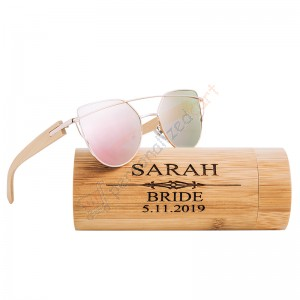 Custom Engraved Women Wooden Sunglasses