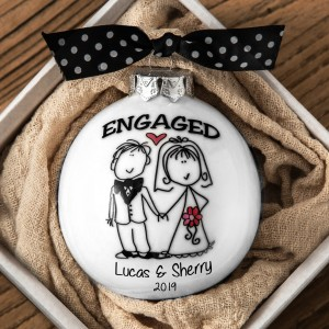 MR.& MRS. Customized ORNAMENT SET