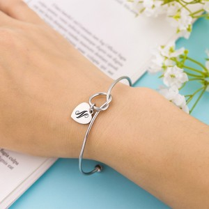 Personalized Heart Gold/Silver/Rose Gold Bracelet