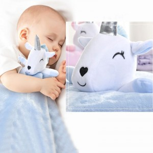 Cute Teddy Unicorn Baby Blanket