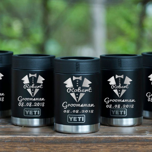 Customized Groomsmen Yeti Colster