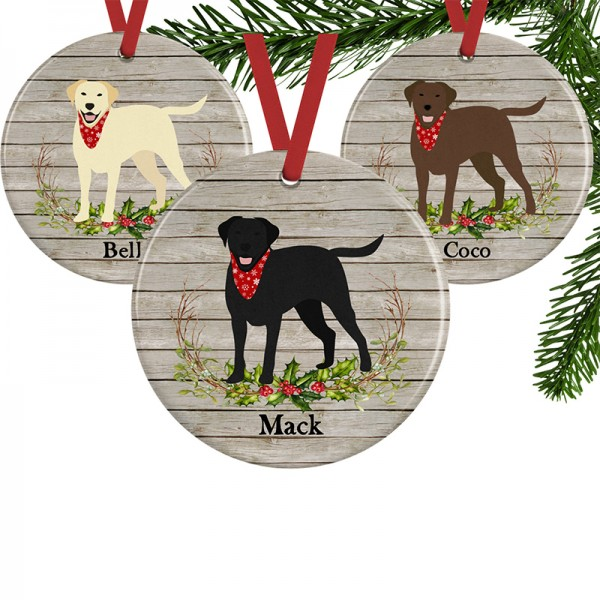 Personalized Lab Christmas Ornament