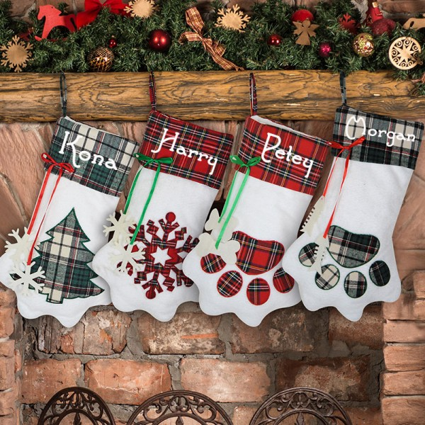 Paw-shaped Christmas Stocking