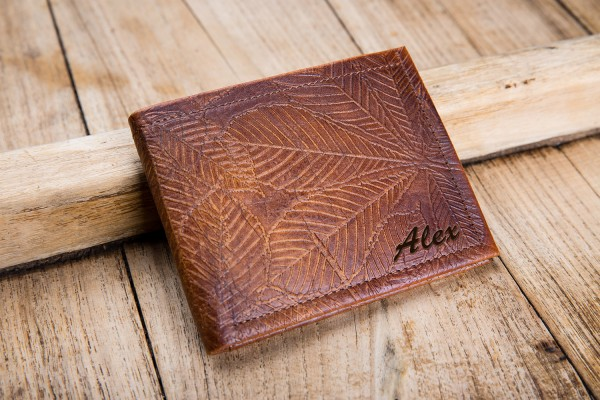 Engraved Leather Wallets