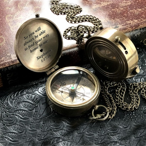 Engraved Personalized Compass