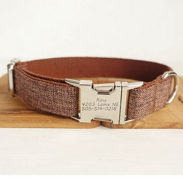 Brown Suit Dog Collar
