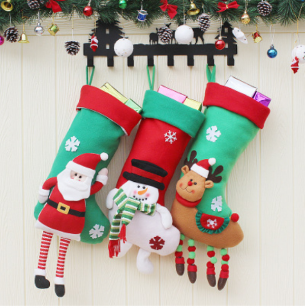 Embroidered Xmas Stockings