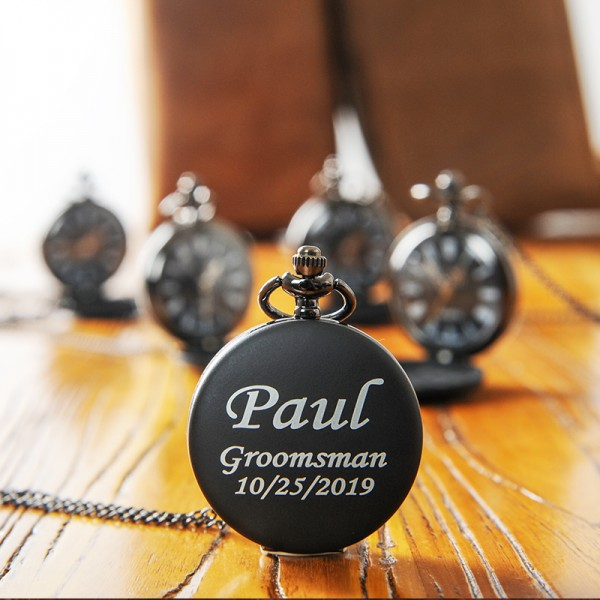 Engraved Groomsmen Pocket Watch