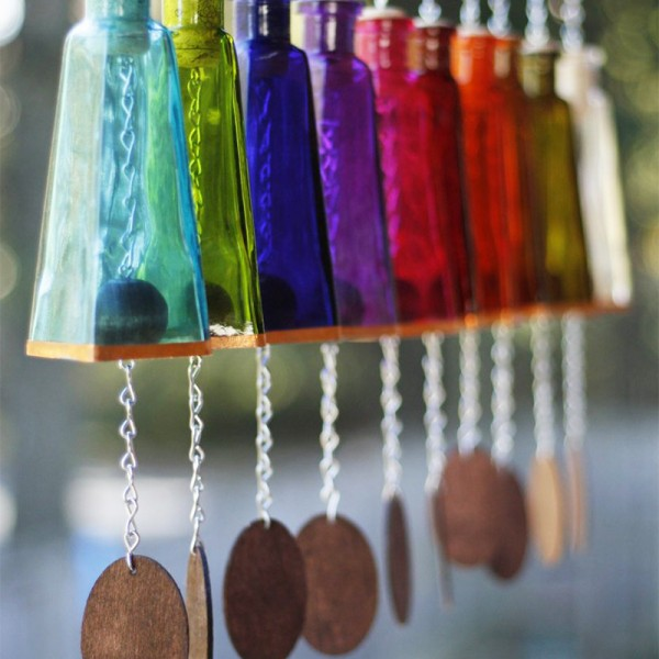 Glass Pyramid Wind Chime
