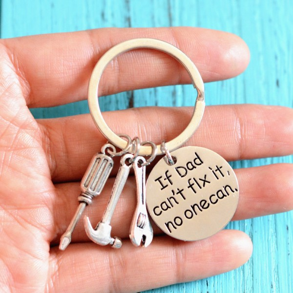 Engraved father's day gift key chain