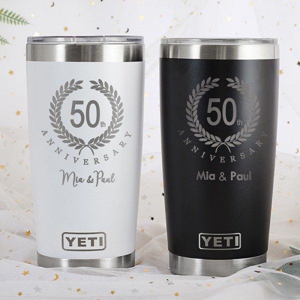 4a22669c19a Personalized anniversary Yeti Tumbler | PersonalizedCart.com